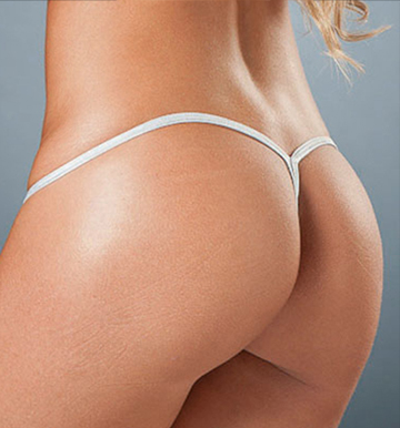 Back view of y-back g-string